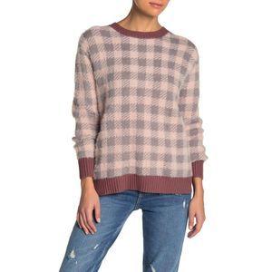 Susina Buffalo Checkered Print Pullover Sweater M